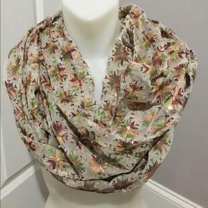 Anthropologie Silk sequin scarf